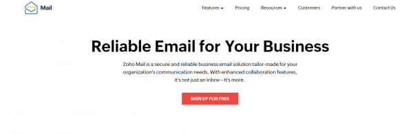 Zoho - email scheduling tool