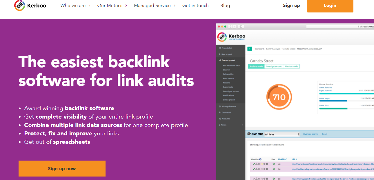 kerboo - best tool for checking backlinks