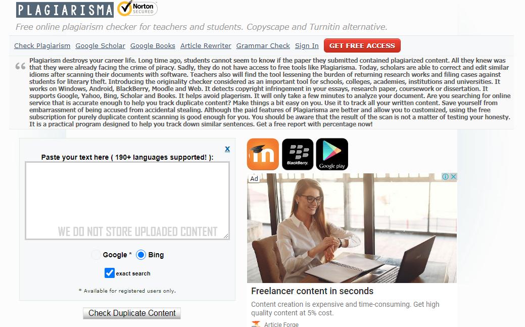plagiarisma - best tool to check plagiarism
