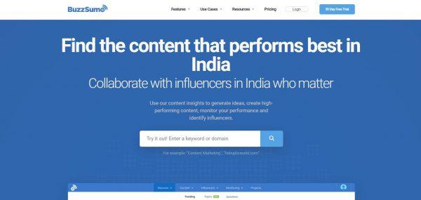 Buzzsumo - Influencer Marketing Tools