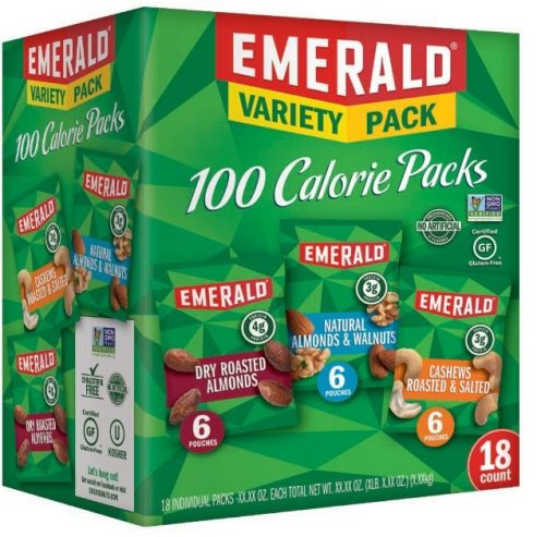 Emerald Nuts, 100 Calorie Variety Pack, 18 Count: Late-Night Snack