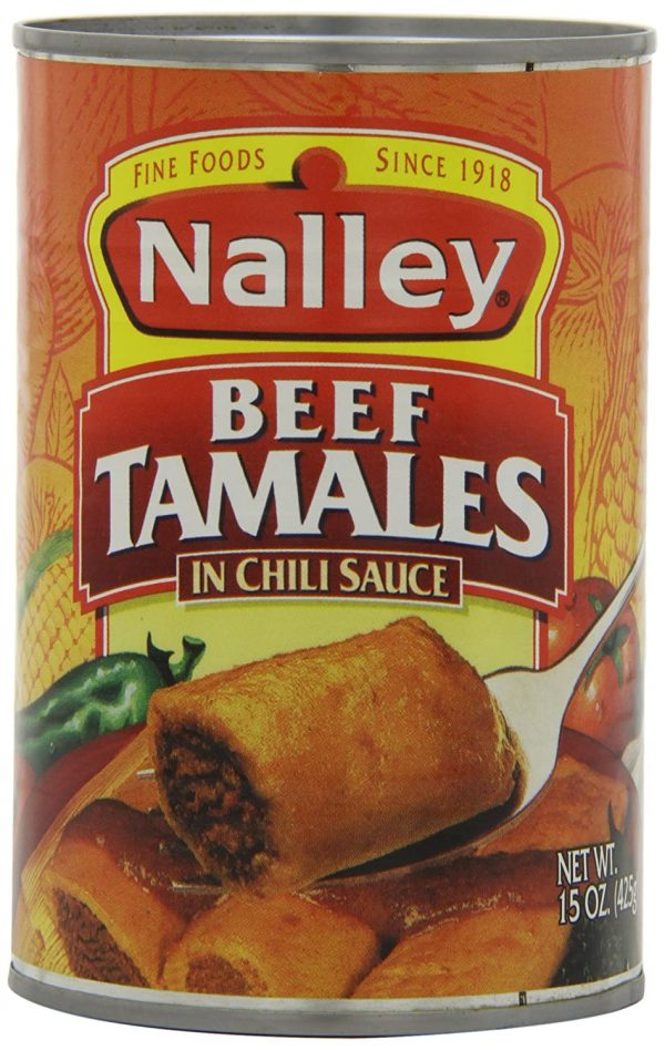 Nalley Beef Tamales in Chili Sauce