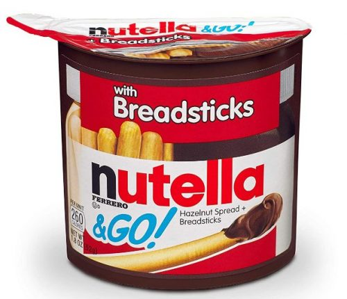 Nutella and GoSnack Packs: Late-Night Snack