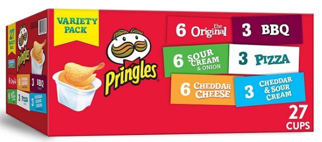 Pringles Snack Stacks Potato Crisps Chips Pack: Late-Night Snack