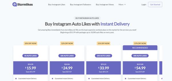 Stormlikes - Buy Instagram Auto Likes