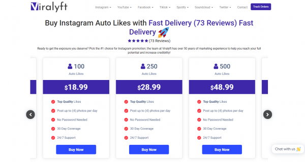 Viralyft - Buy Instagram Auto Likes