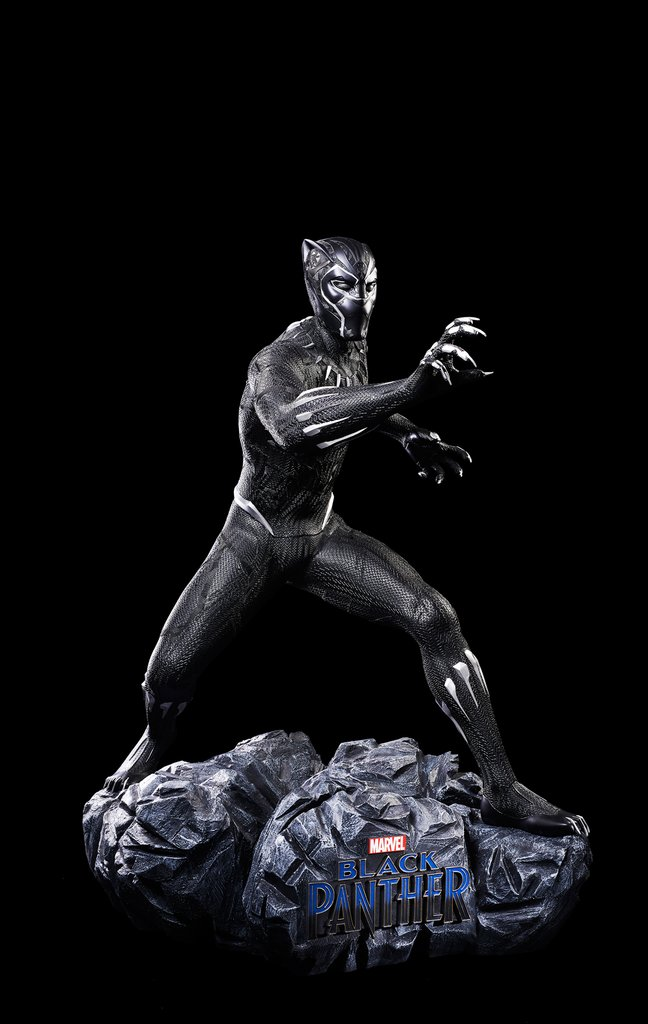 Life-Size Black Panther Statue