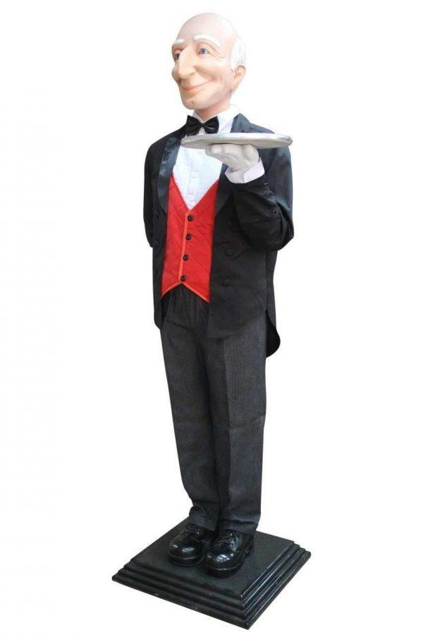 Butler Life Size Display Prop Decor Resin Statue