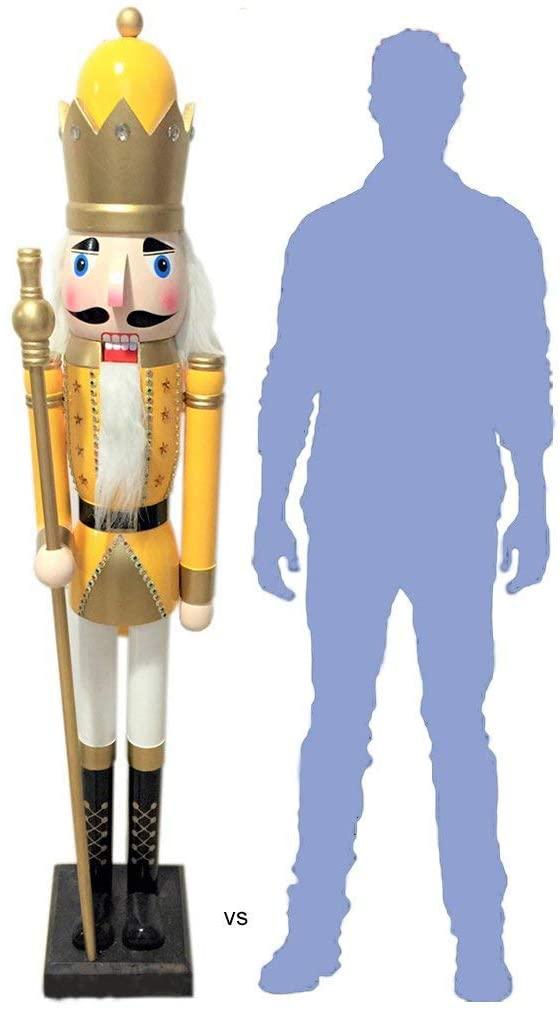 CDL 6 Feet Tall Christmas Wooden Nutcracker King