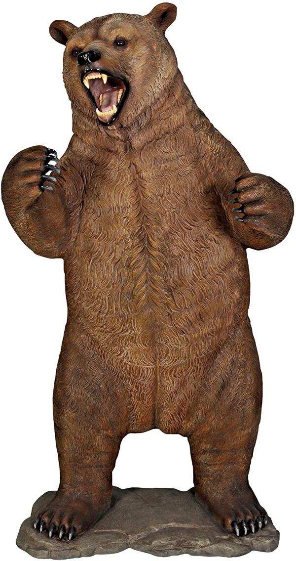 Design Toscano Growling Grizzly Bear Life-Size Statue