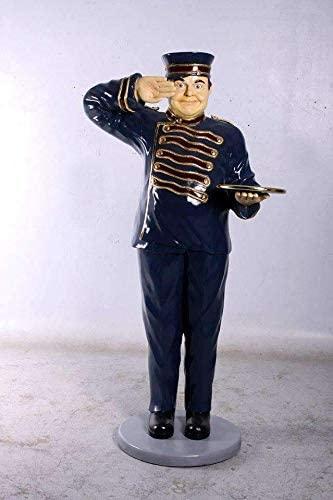 LM Treasures Butler Bellhop Life Size Restaurant Prop Decor Statue