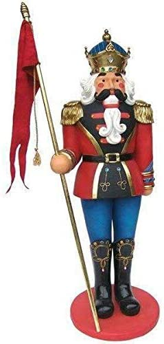 LM Treasures Nutcracker Soldier 6ft Life Size Resin Christmas Statue