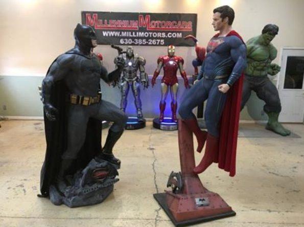 Life-Size DC Comics Batman vs Superman Statues
