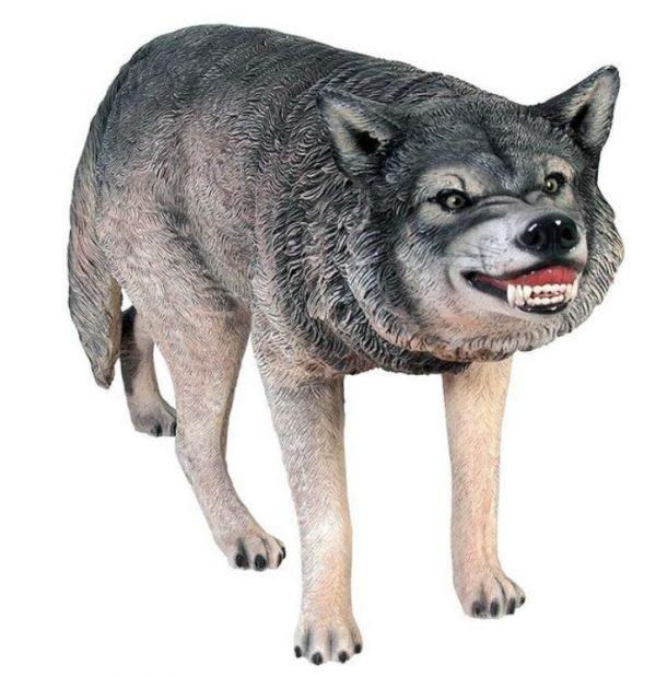 Life-Size Wolf Statue Sculpture