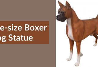 Life-size Boxer Dog Statue