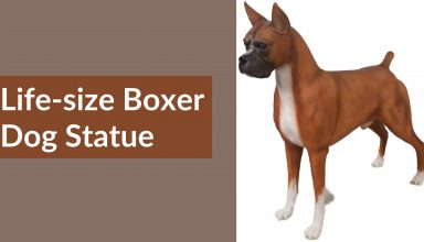 Life-size Boxer Dog Statue