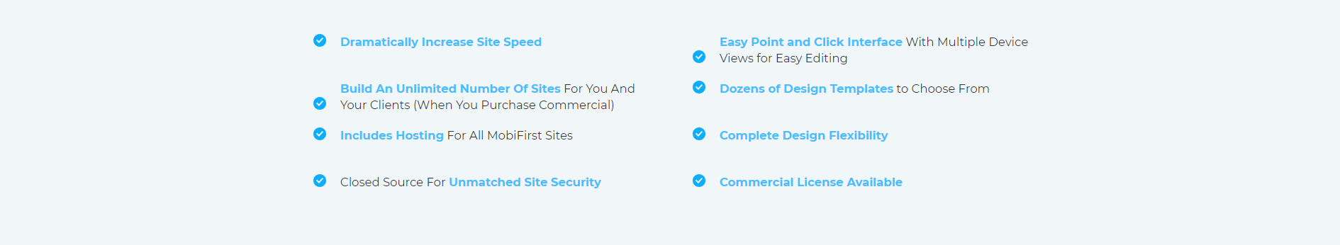 MobiFirst Features