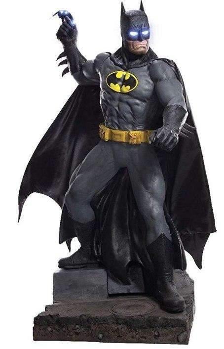 New Batman Life-Size Statues Light Up DC Comic