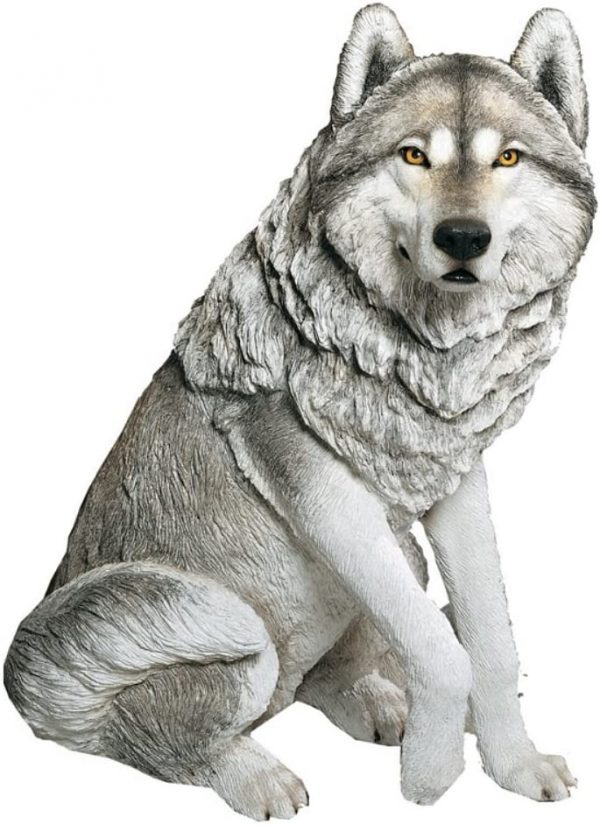 Sandicast Large Life-size Wolf Sculpture
