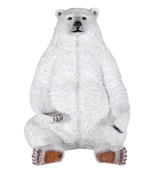 Sitting Pretty life-size Bear Statue with Paw Seat