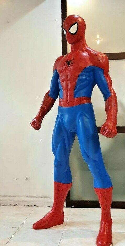 life size spider man statue