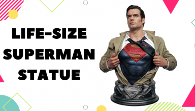 life-size superman statue