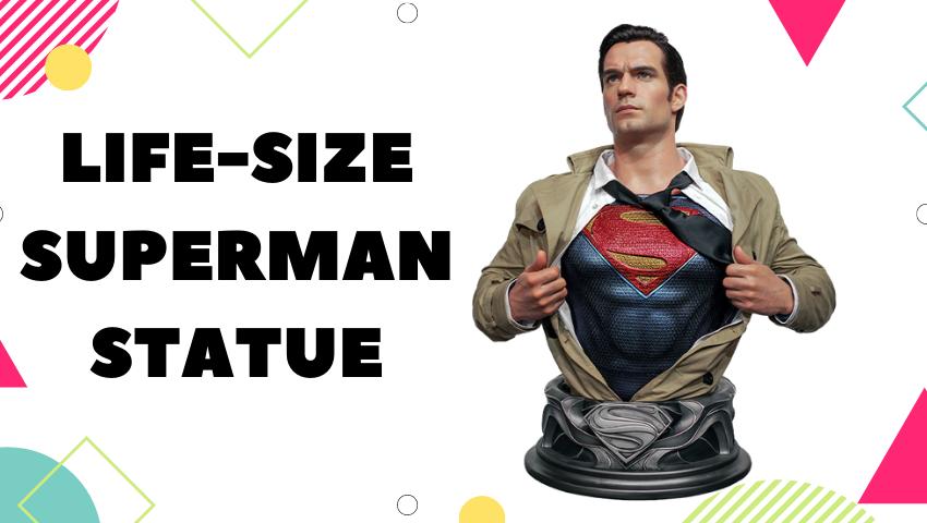 life-size superman statue