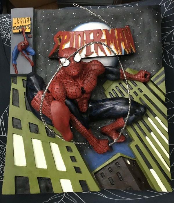 spider man 3D poster