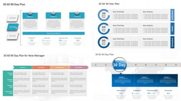 30 60 90 Day Plan Templates