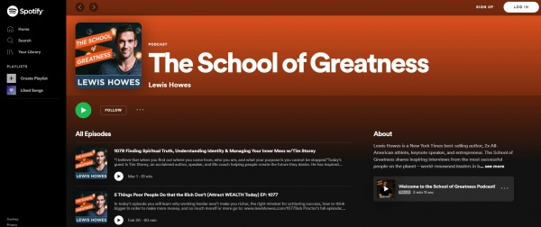 School of Greatness - best motivational podcasts