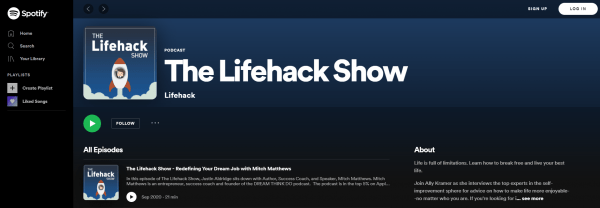 The Lifehack Show - best Motivational Podcasts