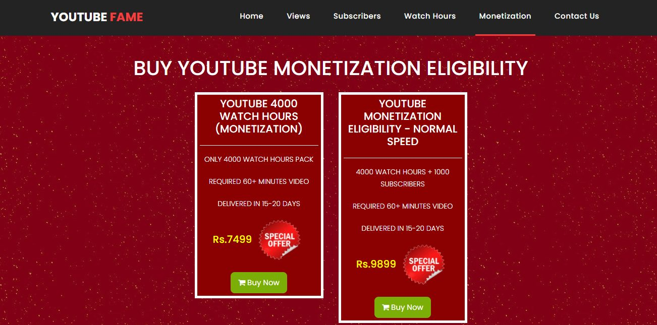 YouTube Fame - top 10 sites to buy youtube channel