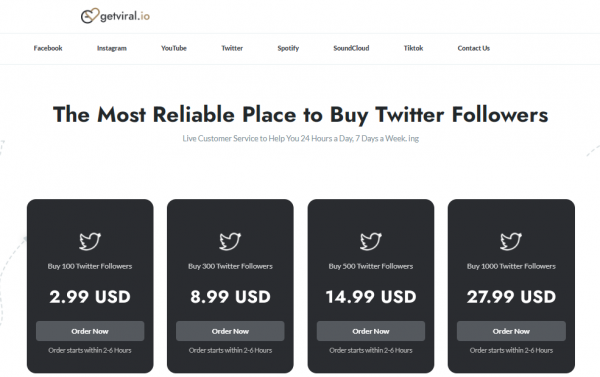 Getviral - buy twitter likes