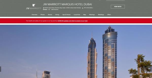 JW Marriott Marquis Hotel, Dubai - best hotels in dubai