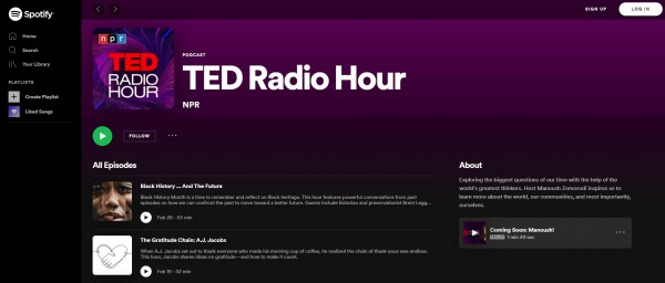 TED Radio Hour - best Motivational Podcasts