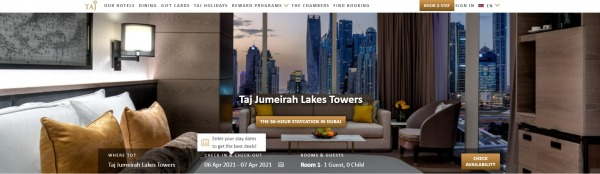 Taj Jumeirah Lakes Towers - best hotels in dubai