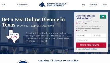 TexasOnlineDivorce.com Review