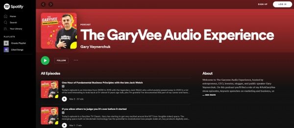 The Gary Vee Audio Experience - best Motivational Podcasts