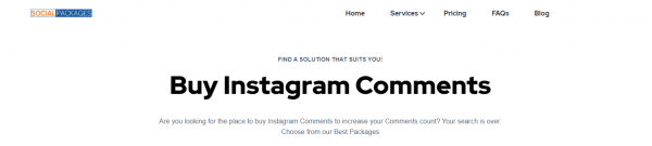 social packages - top sites to buy instagram comments