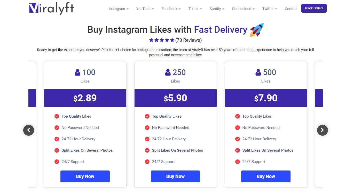 virallyft - best sites to buy instagram likes