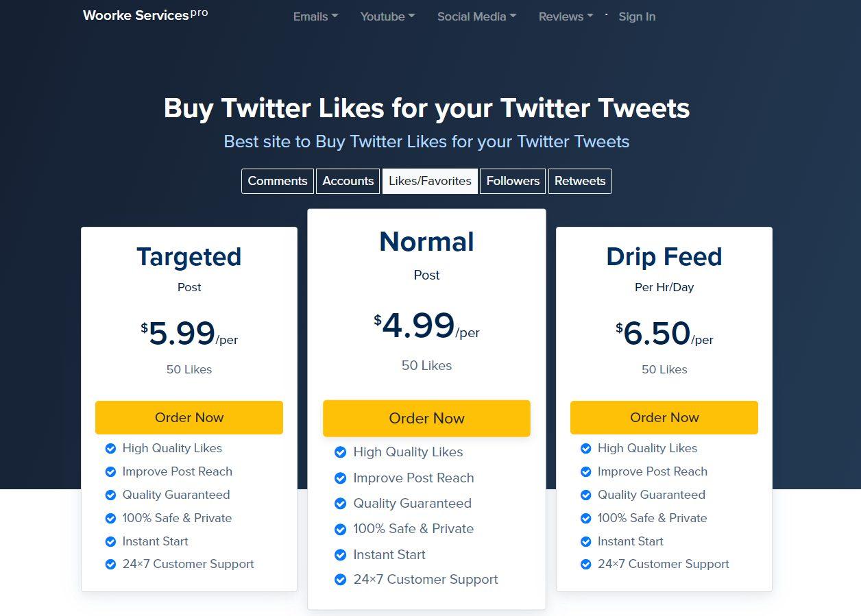 woorke - best sites to buy twitter likes