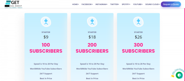 GetRealBoost: Site to Buy YouTube Subscribers