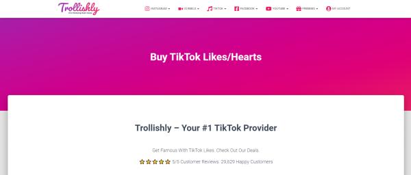 Trollishly: Site to Buy TikTok Likes & Views