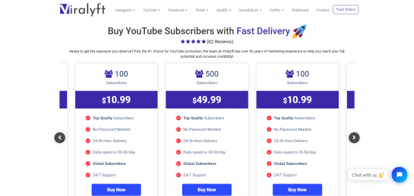 Viralyft: Best Site to Buy YouTube Subscribers
