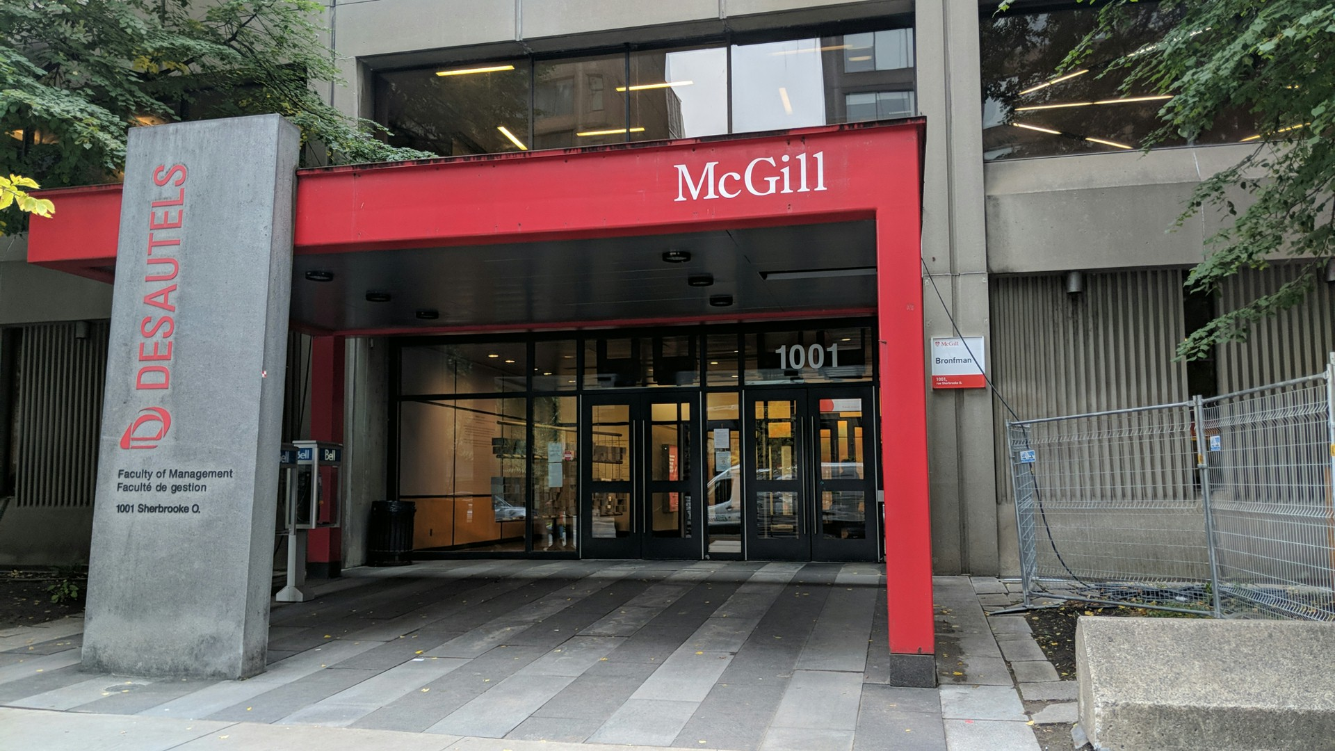 Desautels School of Management – McGill University - business schools in Canada
