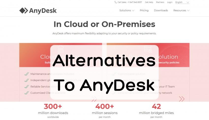 Alternatives To AnyDesk