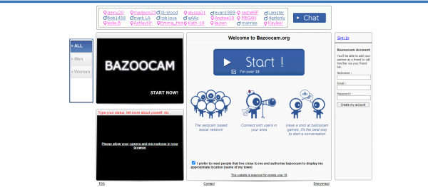 Bazoocam: Alternative to Omegle