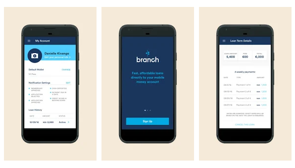 Branch: App like FloatMe