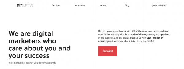 Disruptive Advertising - social media management services