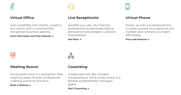 Features of Alliance Virtual Offices